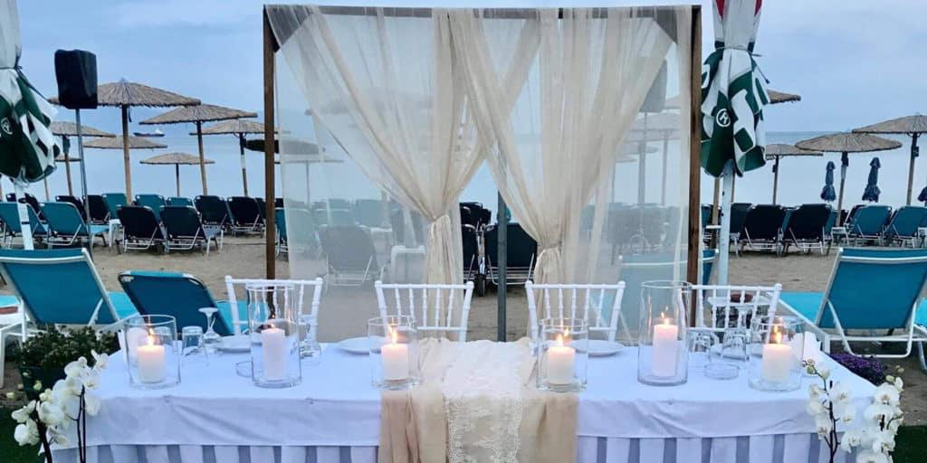 τραπέζι γάμου vranas resort